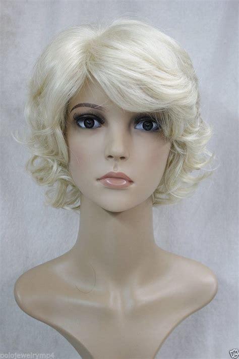 short blonde wigs for women womens short blonde frizzy wig vegaoo wigs short
