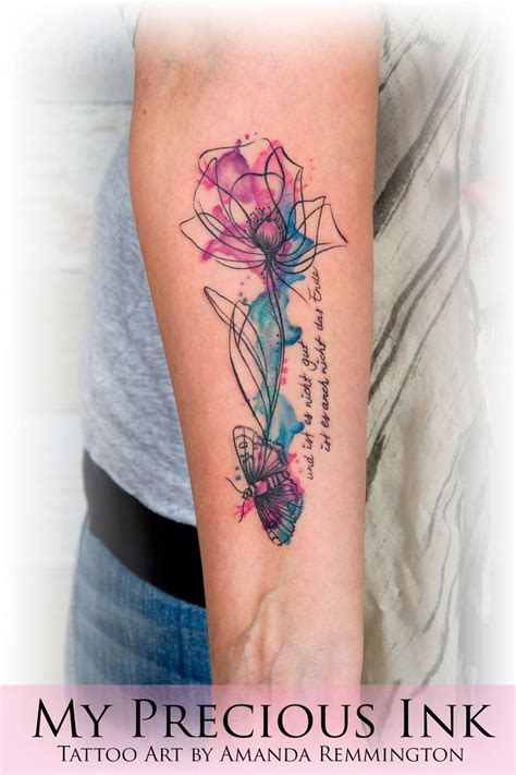 watercolor tattoos flowers best 25 watercolor flower tattoos ideas on
