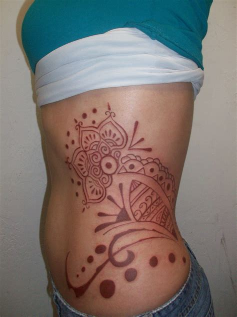 tattoo designs body side henna tattoo for women on rib side