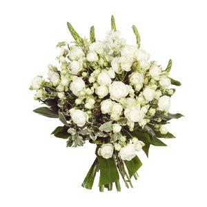 mazzo di fiori bianchi bouquet fiori bianchi consegna fiori a domicilio