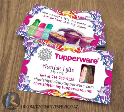 tupperware business cards template tupperware business cards style 1 183 kz creative services