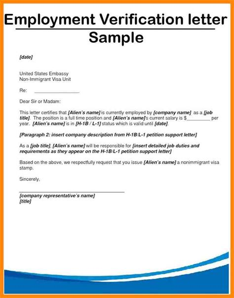 Employment Confirmation Letter For Bank Sle 6 Confirmation Of Employment Letter Resumed