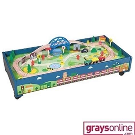 under bed train table young ones wooden under bed train table auction 0301