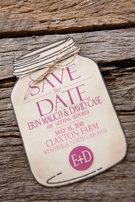 Wedding Invitations Jar by Erin David S Rustic Pink Burlap Wedding Invitations