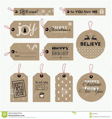 printable tags vector set of christmas and new year gift tags stock vector