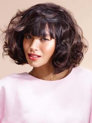 Hairstyles With Bangs And Curls by Hairstyles Bob With Bangs And Curls Wig Buy Wigs Sale