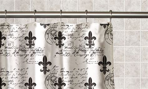 fleur de lis shower curtain fleur de lis peva shower curtain groupon goods