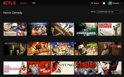 horror netflix how to access categories in netflix