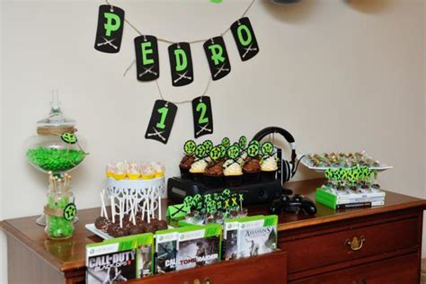 xbox 360 themed birthday party kara s party ideas xbox video game boy 12th birthday party