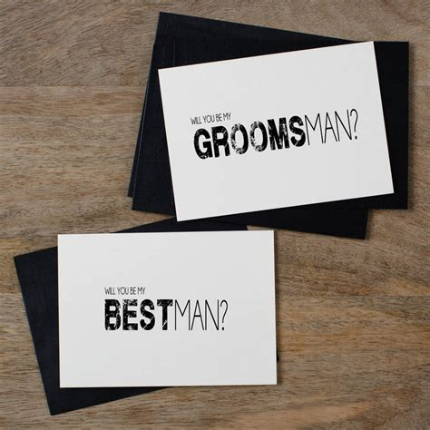 groomsmen thank you cards template will you be my groomsman card by kismet weddings