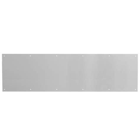 Kick Plates For Exterior Doors Prime Line 10 In X 34 In Satin Aluminum Door Kick Plate J 4620 The Home Depot