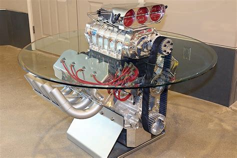 Engine Glass Coffee Table Race Engines Parts For Sale At Mecum Auction