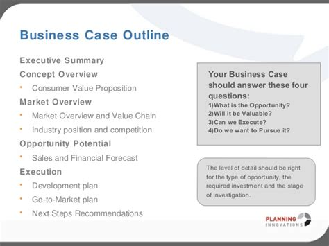 templates for a business case business case template