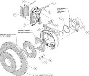 Brake System Drawing Wilwood High Performance Disc Brakes 1961 Chevrolet Bel