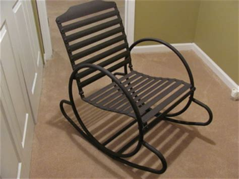 metal patio rocking chairs retro metal outdoor rocking chair collectors weekly