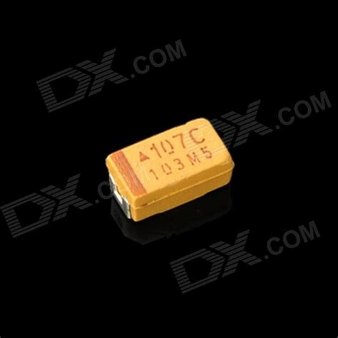 yellow smd capacitor 100uf 16v 6032 tantalum capacitors yellow 10 pcs free shipping dealextreme