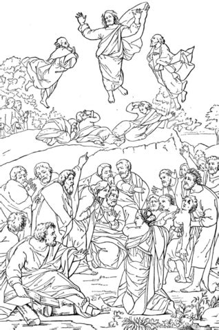 coloring pages jesus transfiguration transfiguration of coloring page coloring