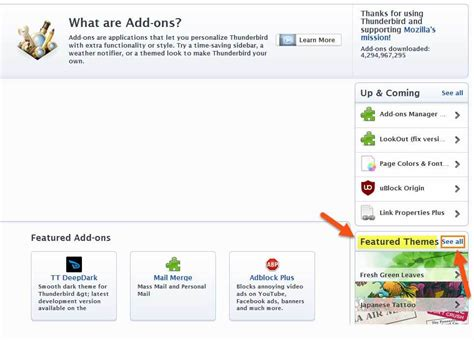 change themes on mozilla how to change themes in mozilla thunderbird daves
