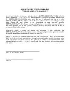 Cease And Desist Letter Harassment Template by Cease And Desist Harassment Letter Template Cease