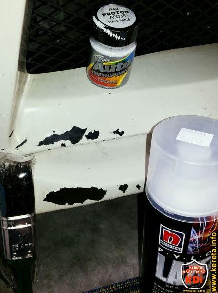 diy cara baiki cat kereta terkopek sendiri dengan rm30