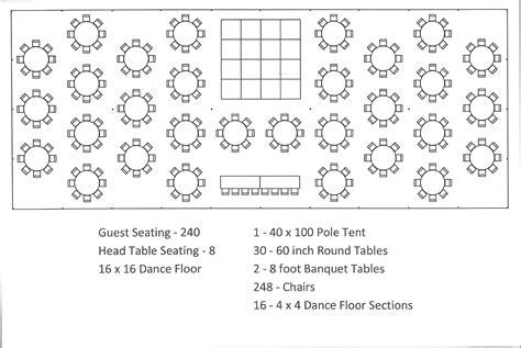 Wedding Reception Floor Plan Ideas by 40 X 100 Pole Tent Seating Arrangement