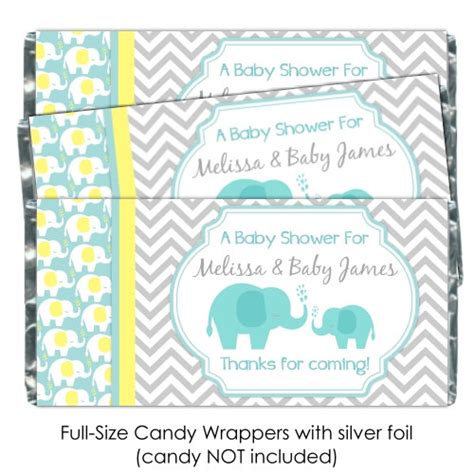 baby shower wrappers templates free mod elephant baby shower wrappers elephant chocolate