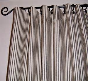 Ticking Stripe Curtains Ticking Stripe Curtains 2 Panels 50x 72 Navy By Lamourhomedecor