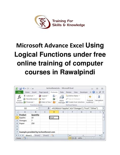tutorial excel logical functions microsoft advance excel using logical functions under free