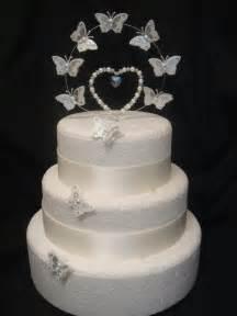 pearl diamante set butterfly wedding