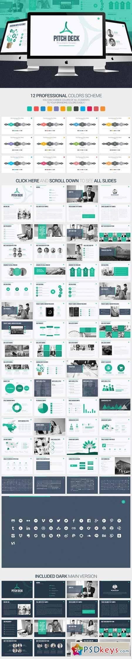 Pitch Deck Powerpoint Template 375469 187 Free Download Photoshop Vector Stock Image Via Torrent Pitch Deck Template Powerpoint Free