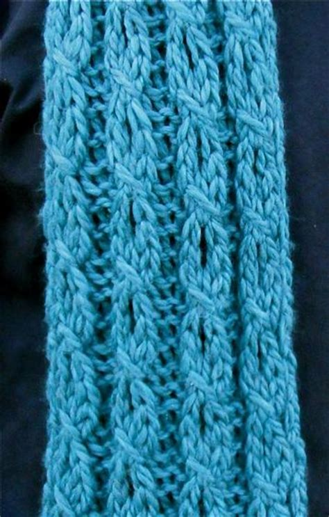 mock cable knit scarf pattern mock cable and eyelet scarf knitting patterns and