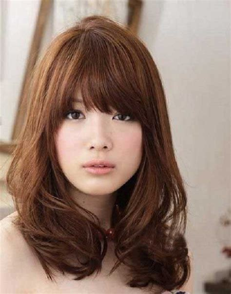 brunette hairstyles with bangs 2014 medium haircuts with bangs 2014 2015 hairstyles