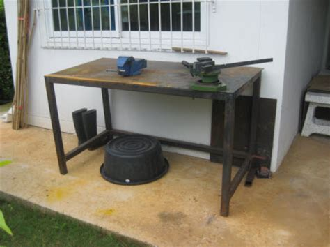 homemade metal work bench workshop equipment modelengineeringinthailand com