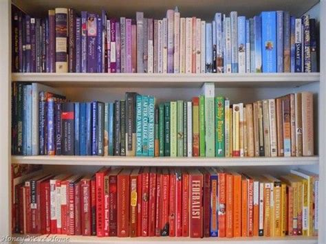 color coordinated bookshelf colour coordinated books dream home pinterest