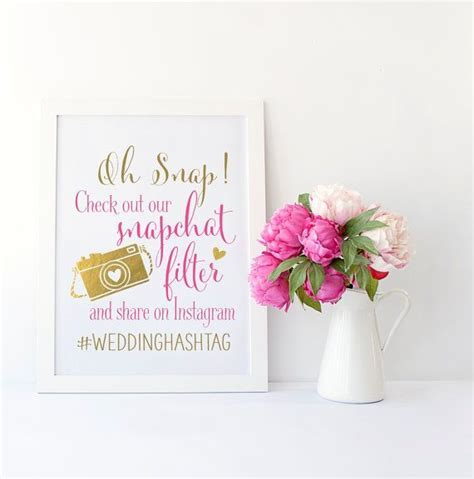 17 Best ideas about Instagram Wedding Sign on Pinterest
