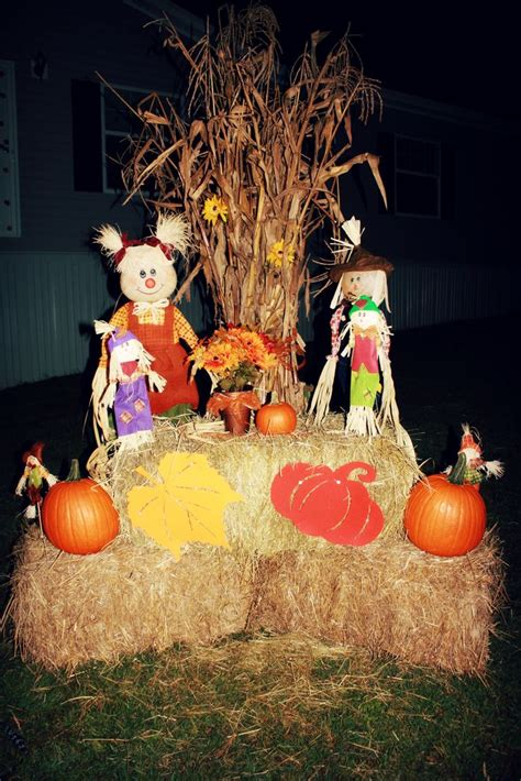 fall hay decorations outside fall decor corn stalks hay fodder shock fall