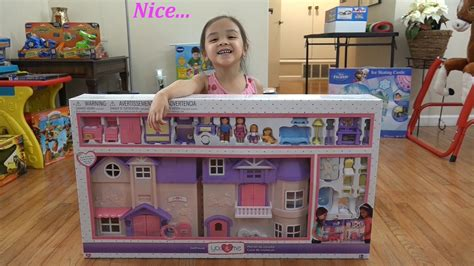 doll houses for little girls toys for little girls you me plastic dollhouse playset unboxing with maya youtube
