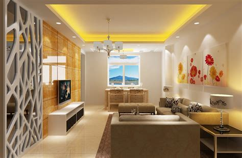 room interior design yellow modern minimalist living dining room interior