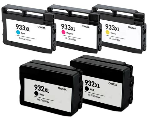 Tinta Hp 932 Black Ink Cartridge Cn057ae For Hp 7110 7612 7510 5 pack 932 xl 933xl ink for hp officejet 6100 6600 6700