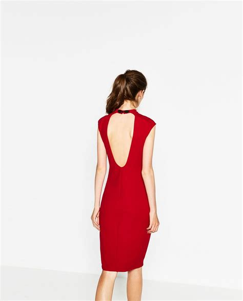 image 4 of dress with mao collar from zara adorn my