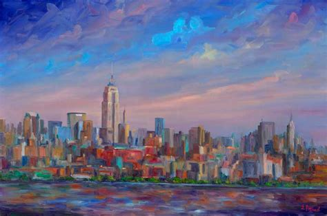 paint nite nyc contact number new york city skyline with empire state building