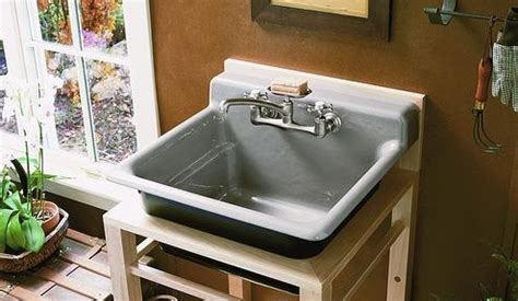 kohler bayview wood stand utility sink looking to remodel your laundry room here s a few reasons