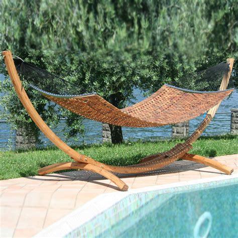 amaca da giardino con supporto supporto in legno lamellare con amaca a3000 composta da