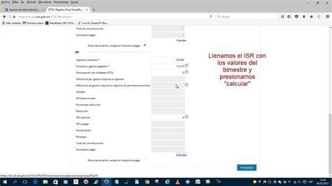tarifa bimestral rif 2016 sat rif 2016 declaracion de rif 2016 2017 envio declaraci
