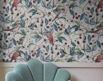 bird wallpaper for walls vintage peel and stick wallpaper etsy