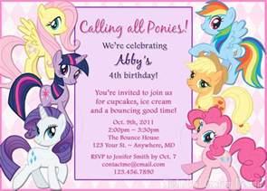 my pony birthday invitation diy by nightowlcustomdesign