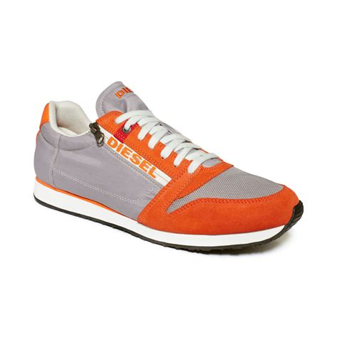 s diesel sneakers diesel black jake slocker s sneakers in orange for lyst