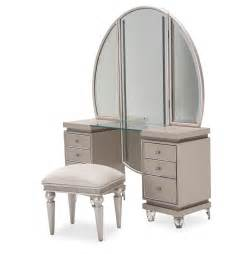 3 aico glimmering heights vanity with bench