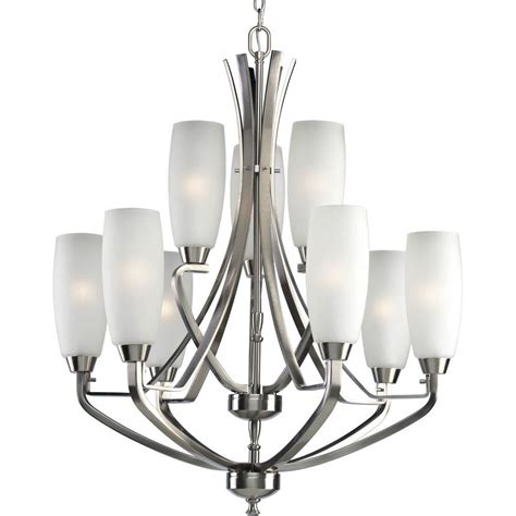 home lighting collections progress lighting wisten collection 9 light brushed nickel
