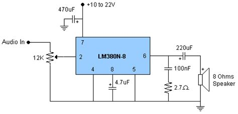 ipod audio capacitor bypass lm380n output resistor and capacitor needed